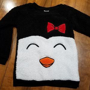 Cat and Jack Penguin Toddler Fleece Top Soft